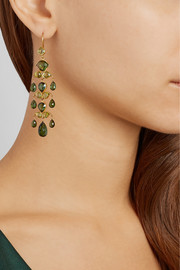 MUNNU 22-karat gold tourmaline earrings