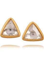 22-karat gold diamond earrings