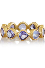 MUNNU 22-karat gold tanzanite ring