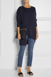 Marques'Almeida for Topshop Asymmetric ribbed-knit sweater