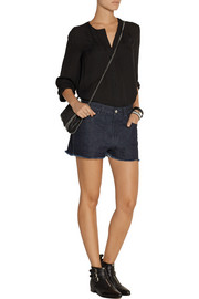 Marques'Almeida for Topshop Low Slung frayed denim shorts