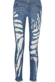 Marques'Almeida for Topshop Animal Shredded mid-rise skinny jeans