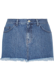 Marques'Almeida for Topshop Frayed denim mini skirt