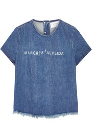 Marques'Almeida for Topshop Frayed denim top