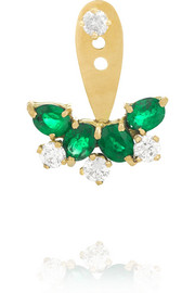 Yvonne Léon 18-karat gold, diamond and emerald earring