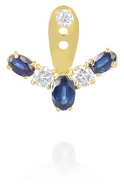 Yvonne Léon 18-karat gold, diamond and sapphire earring