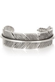 Saint Laurent Silver feather cuff
