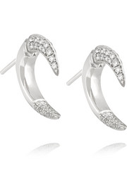 Shaun Leane Small Talon 18-karat white gold diamond earrings