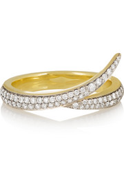 Shaun Leane Interlocking 18-karat gold diamond ring
