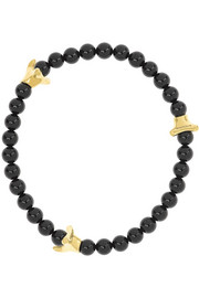 Shaun Leane Serpent onyx and 18-karat gold bracelet
