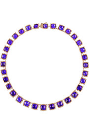 Bella rose gold-dipped amethyst rivière necklace