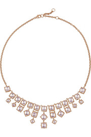 Larkspur & Hawk Bella rose gold-dipped quartz necklace