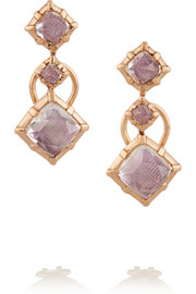 Larkspur & Hawk Bella rose gold quartz earrings
