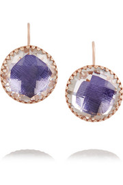 Olivia Button rose gold-dipped topaz earrings
