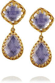 Larkspur & Hawk Small Jane gold-dipped topaz earrings