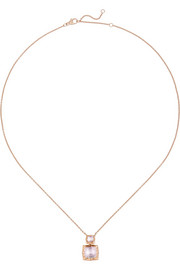 Larkspur & Hawk Bella Double Drop rose gold-dipped quartz necklace
