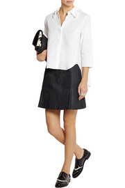 Steve J & Yoni P Ruffled cotton-poplin shirt