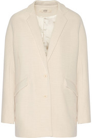 Clea textured cotton-blend coat