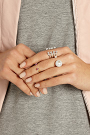Delfina Delettrez 18-karat gold, pearl and diamond ring