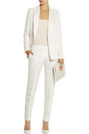 Pallas Chimere brushed satin-trimmed faille blazer