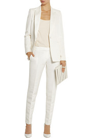 Pallas Aurore brushed satin-trimmed faille straight-leg pants