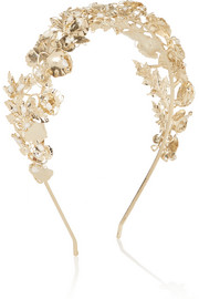 Maria gold-dipped pearl headband
