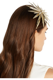 Apache gold-dipped pearl headband