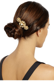 Soffioni gold-dipped pearl hairclip