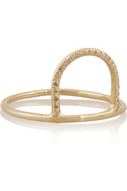 Sunset 10-karat gold diamond ring