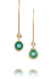 10-karat gold emerald earrings