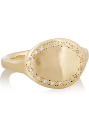 SCOSHA 10-karat gold diamond ring