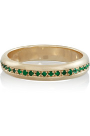 SCOSHA 10-karat gold emerald ring