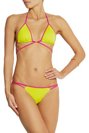 Cari two-tone triangle bikini