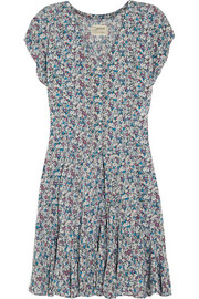 The Swing floral-print washed-poplin mini dress