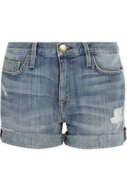 The Boyfriend Rolled denim shorts