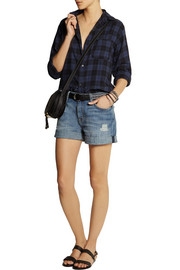 Current/Elliott The Boyfriend Rolled denim shorts