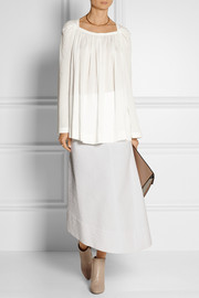 Loewe Quilted asymmetric cotton skirt
