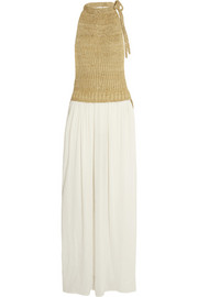 Loewe Knitted silk and gauze maxi dress