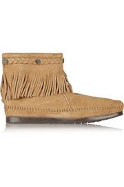 + Minnetonka embellished fringed suede ankle boots
