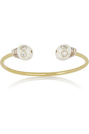 Finds + Figue Skull brass, zircon and bone cuff