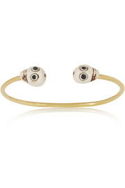 + Figue Skull brass, sapphire and bone cuff