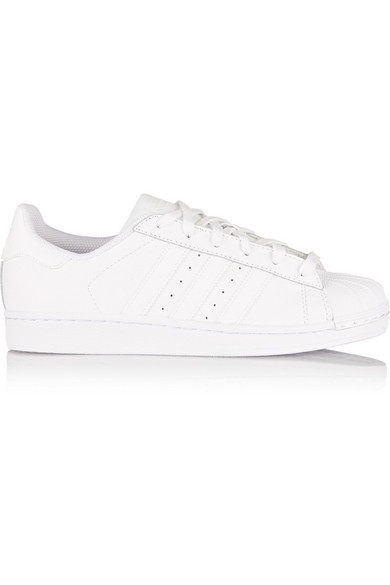 Stan Smith White Leather Sneakers With Scales Insert