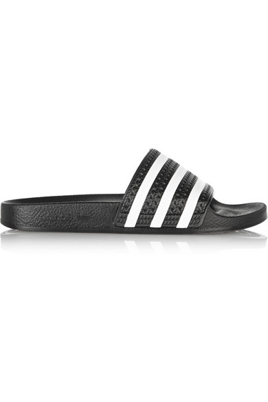 Adidas Women'S Adilette Cloudfoam Plus Slide Sandals From Finish Line, Black