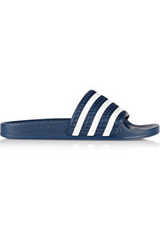 Adilette textured-rubber slides