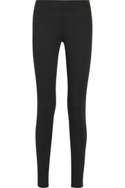 Stratton stretch-cotton leggings
