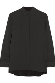 Carlton oversized crepe blouse