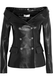 Faith Connexion Off-the-shoulder leather jacket