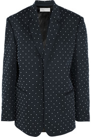Faith Connexion Studded cotton-twill blazer