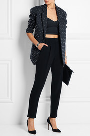 Studded cotton-twill blazer