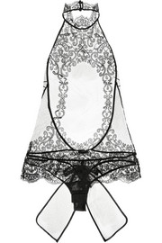 Light and Shadow tulle and lace bodysuit